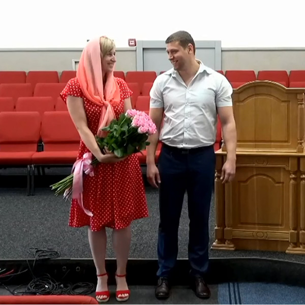 Заручена пара Віталій та Тетяна