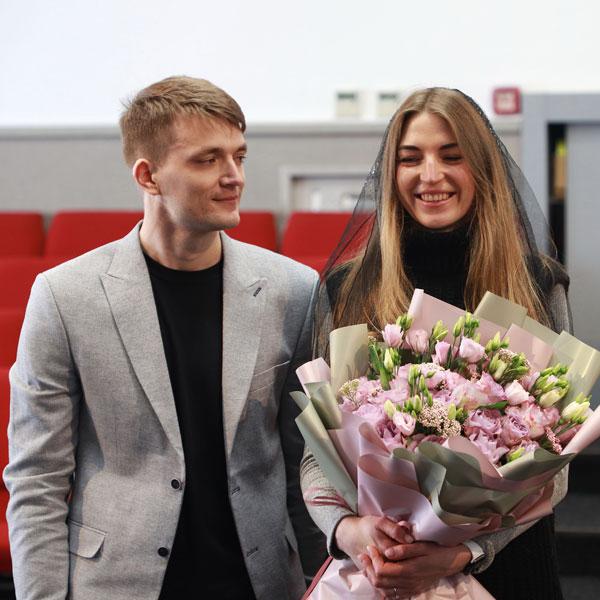 Заручена пара Богдан та Крістіна
